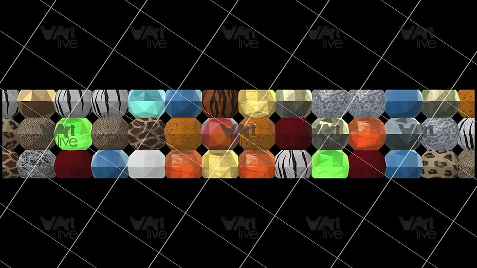 3D Geometric Shapes Colorful Loop - VA-3H-0054