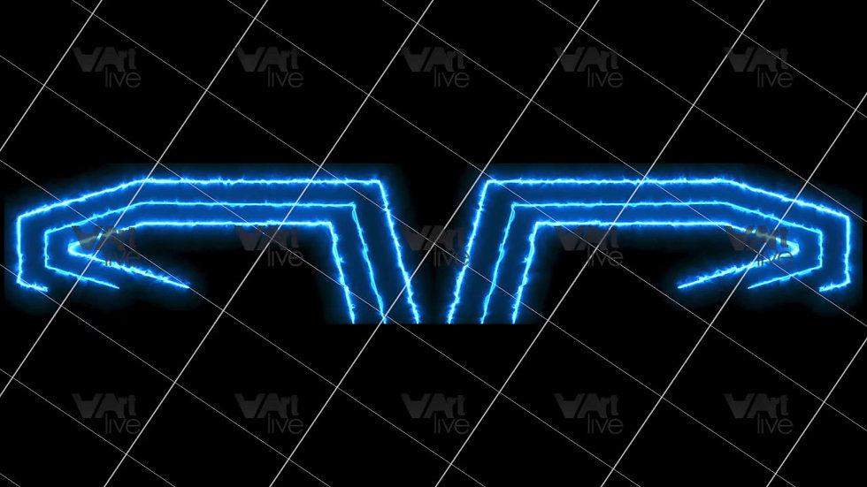 Blue Neon Lines Loop - VA-3H-0094