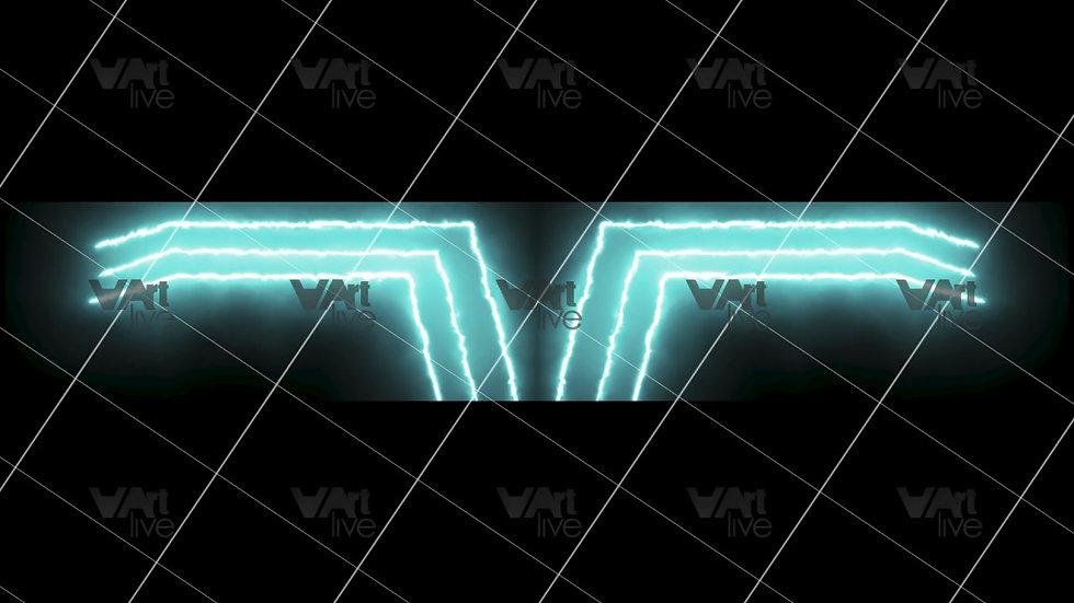 Green Neon Lines Loop - VA-3H-0100