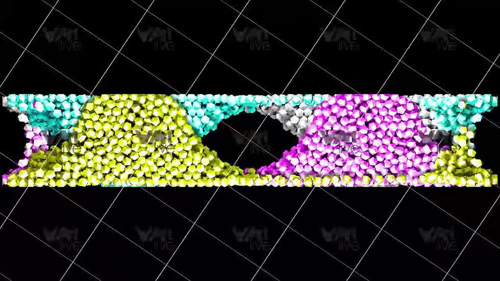 3D Geometric Shapes Colorful  Loop - VA-3H-0003