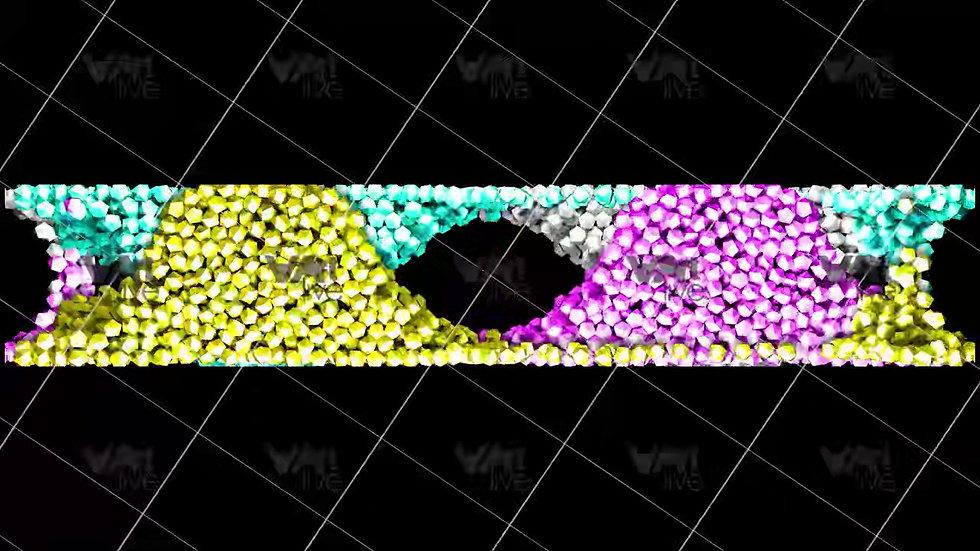 3D Geometric Shapes Colorful  Loop - VA-3H-0004
