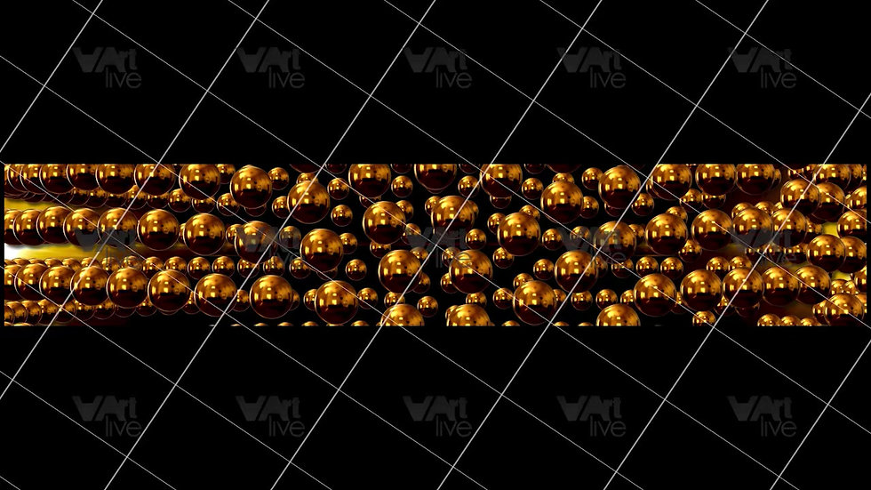 3D Geometric Shapes Gold  Loop - VA-3H-0019