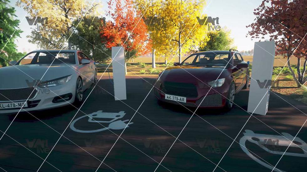 3D Electric car charging  - VA-TC0001