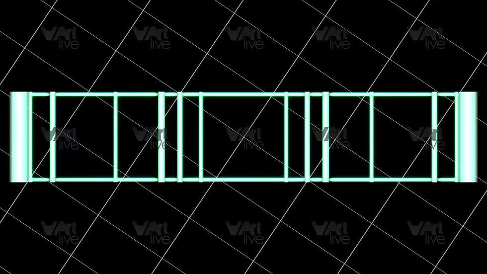 3D Geometric Shapes Green Loop - VA-3H-0008