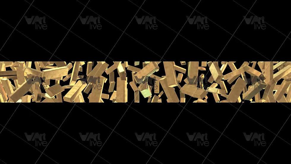 Gold Bars 3D Loop - VA-NC-0032