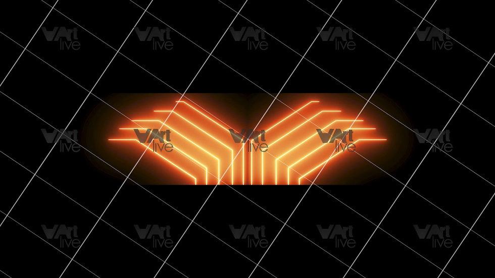 Golden Neon Lines Loop - VA-3H-0092