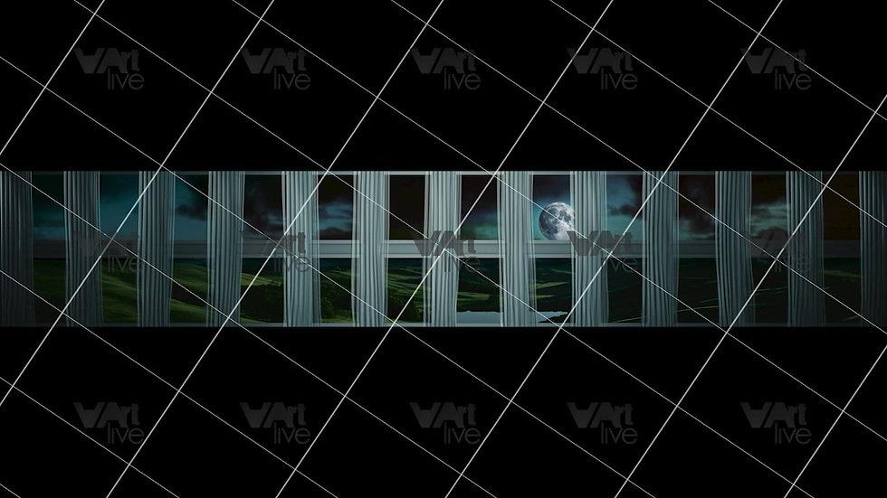 Modern Windows at Night3D  Loop - VA-NC-0042