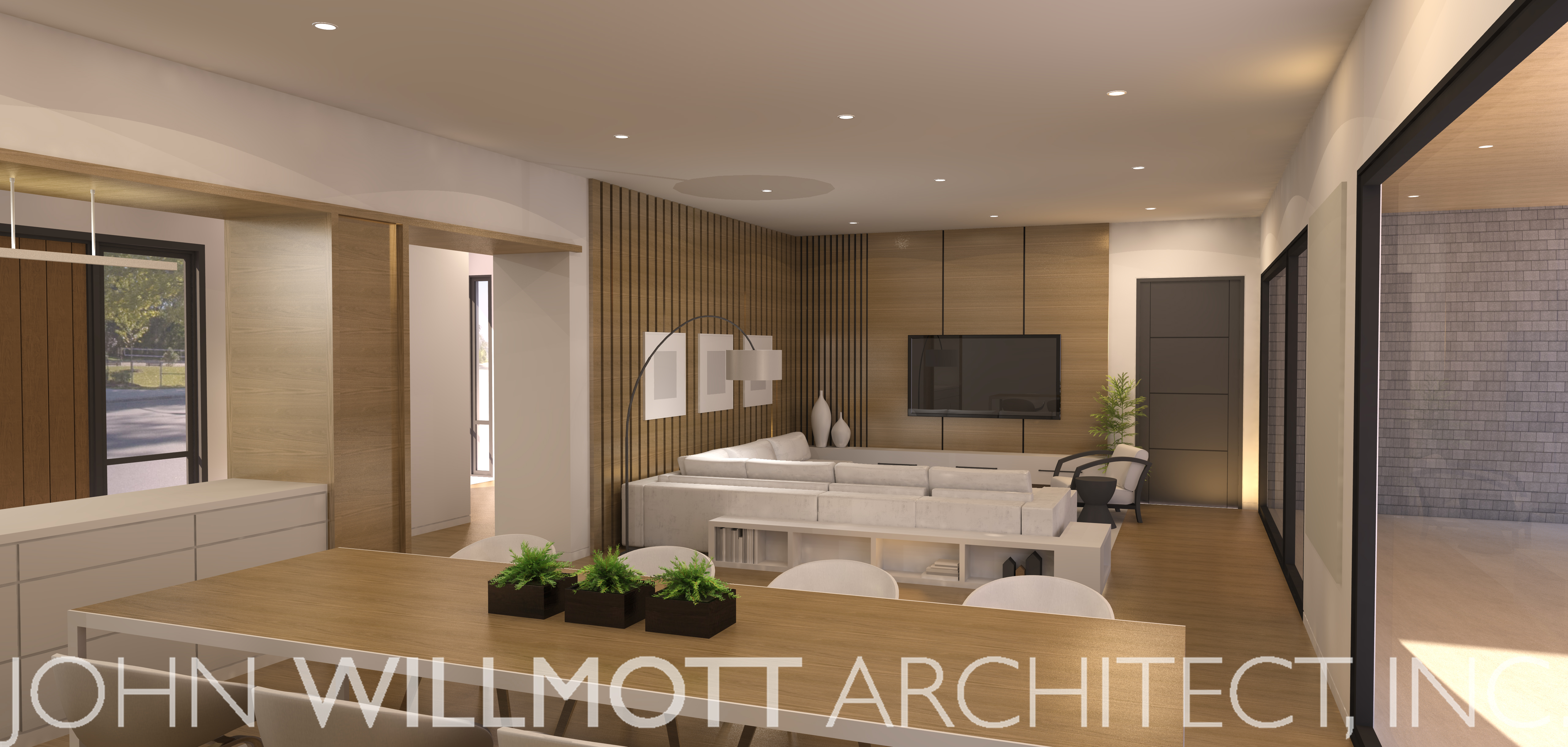 16.28 - Family Room 3D Rendering