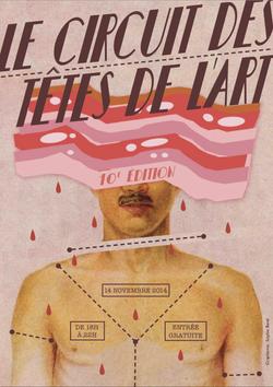 """Affiche """"Les têtes de l'Art"""""""