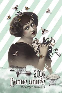 Carte nouvel an 2016 - Sophie Barel