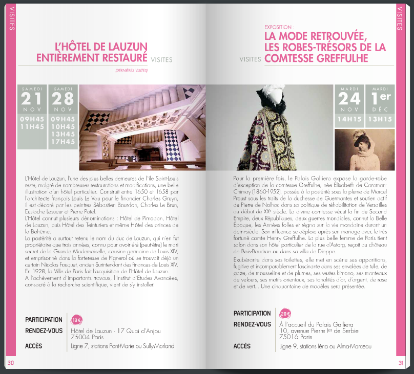 Programme Amis de Versailles