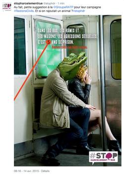 Affiche Stop Harcèlement de Rue