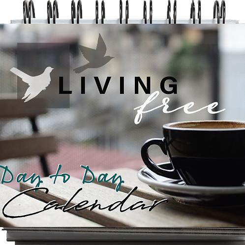 Living Free Devotional 365 Day Flip Calendar