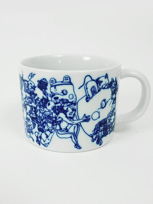 Teradaki / Ceramic Mug & Tenugui Combo