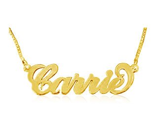 Curly Name Pendant