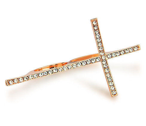 Chloe Cross Double Ring