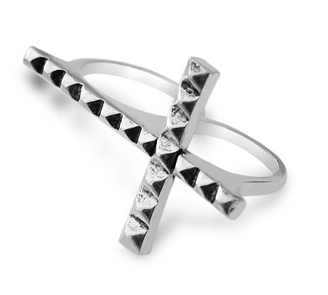 Beth Cross Double Ring