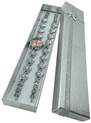 Flower Bracelet (Silver)