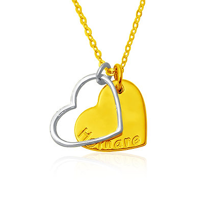 Dual Heart Name Pendant