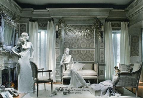 All-White Christmas Room