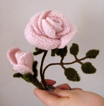Detail of Yarn Rose