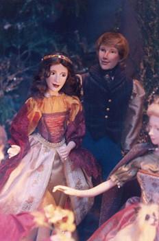 Fairytale Couple in Garden