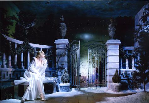 Frosty Night Garden Window