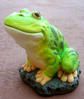 Green Frog Paint