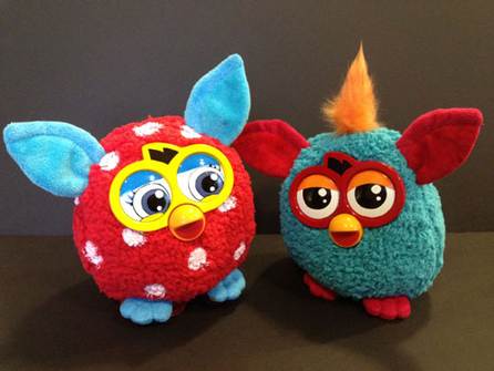 Furby plush banks