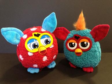 Furby plush banks