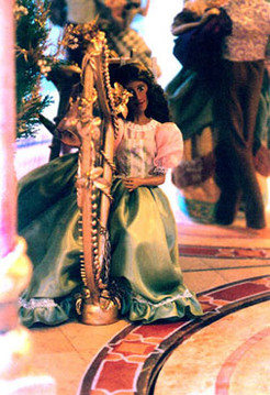 Fairytale Harpist at Ball