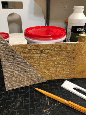 A few stone paint color tests.