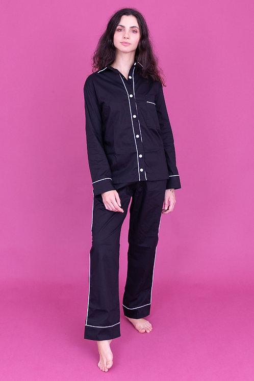 pijama basic longo preto