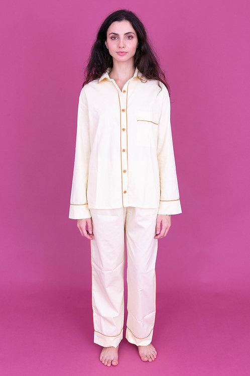 pijama color longo amarelo