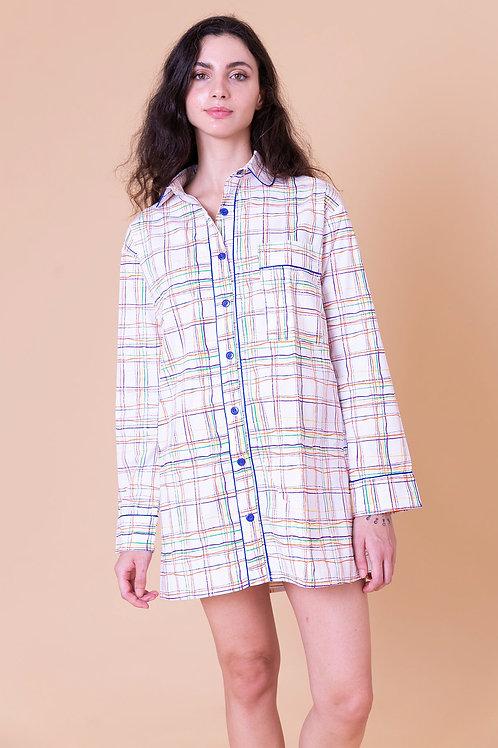 camisola print xadrez colorido