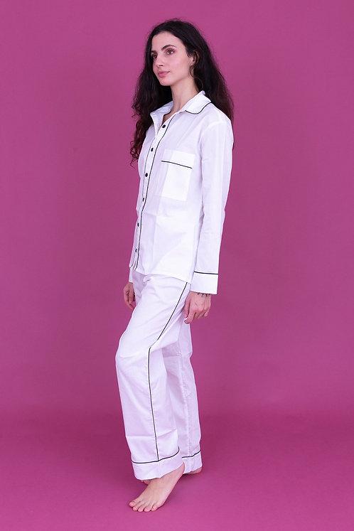 pijama basic longo branco