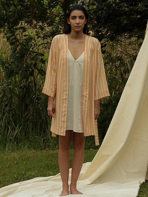 kimono stripes laranja com off-white