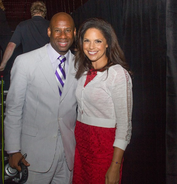With News Host, Soledad Obrien