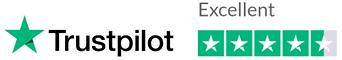 five star trustpilot rating badge