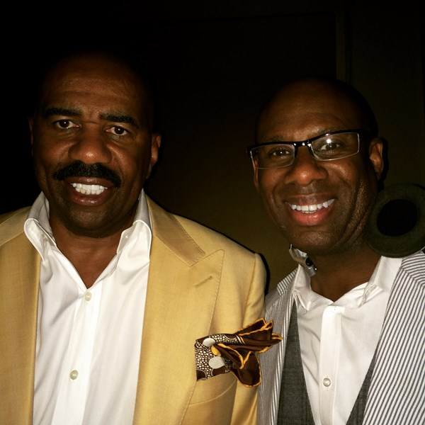 Steve Harvey loves ol'school music!