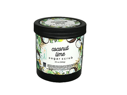 Coconut Lime Sugar Scrub 20 oz