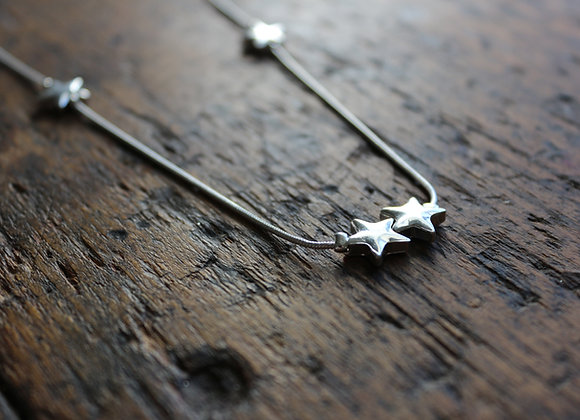 Long Tiny Star Necklace