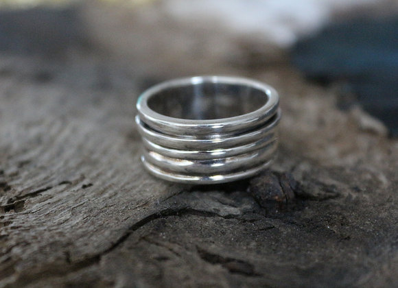 Ladies Silver Band Ring