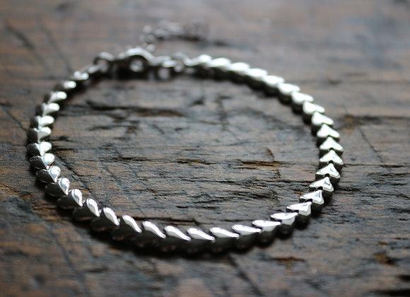 Sterling Silver Heart Bracelet H3332