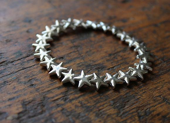 Silver Plated Star Bracelet