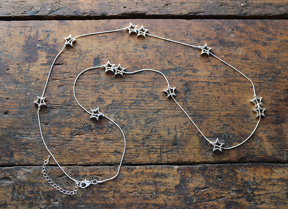 Long Open Star Necklace
