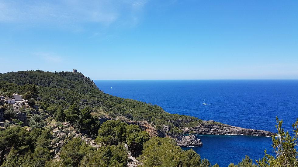 Geführte deutschsprachige Wanderungen auf Mallorca mit Meer und Bergblick erlebst du in Port de Sóller und auf der ganzen Insel mit Mallorca Muntanya.