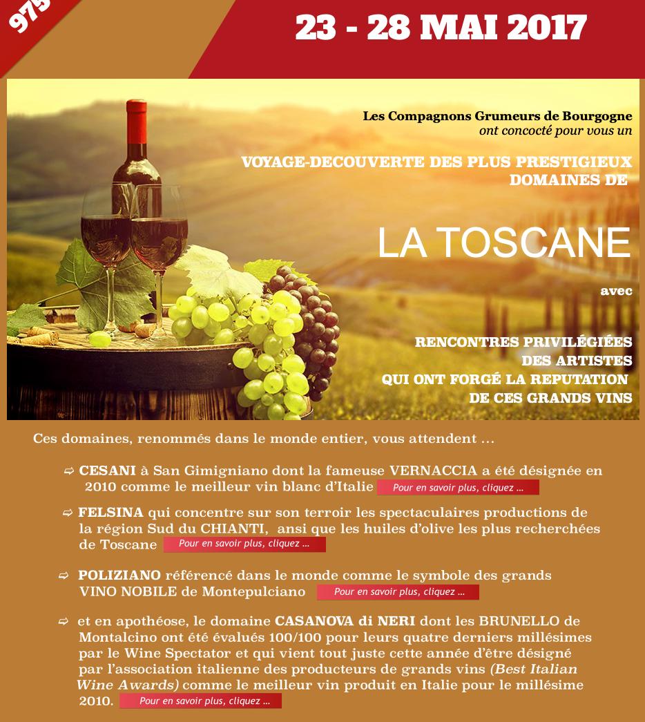 Voyage oenologique en Toscane
