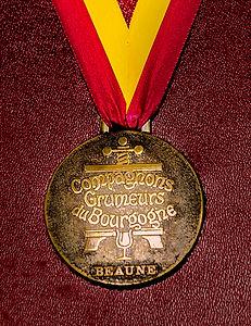 Médaille des  Compagnons Grumeurseurs du Bourgogne