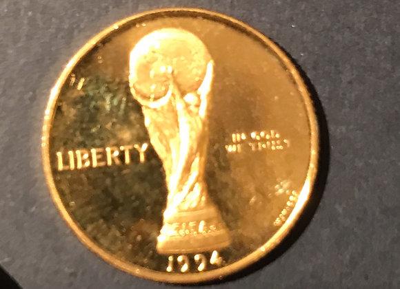 5 Dollar 1994-World Cup Soccer USA Gold